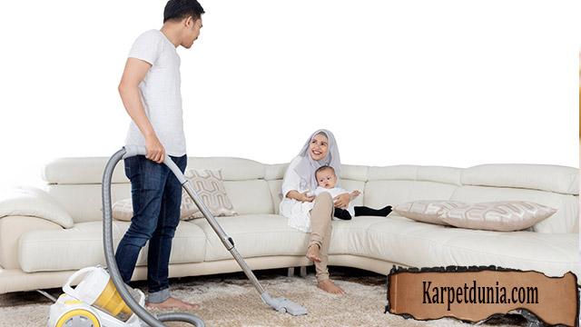 Bersihkan Karpet Kotor Setelah Lebaran