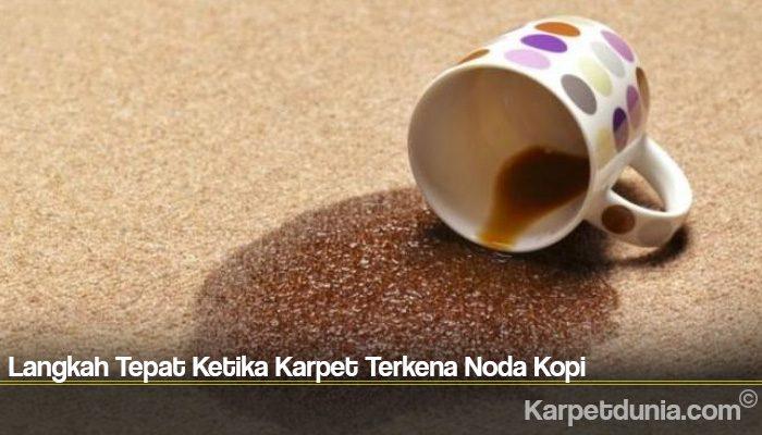 Langkah Tepat Ketika Karpet Terkena Noda Kopi